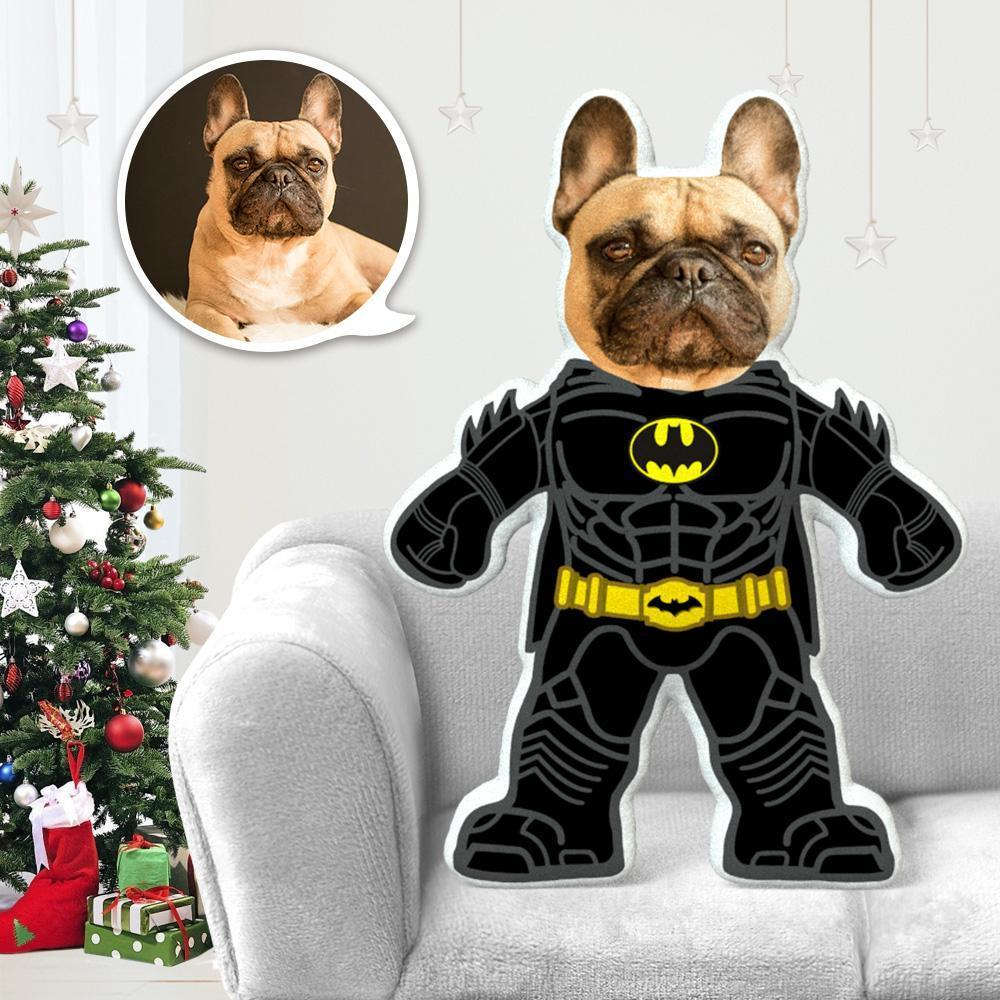 Dog Photo Pillow Dog Face Pillow Personalized Dog Pillow Custom Dog Pillow Dog Picture Pillow Batman Costume MiniMe Dog Costume Pillow Doll
