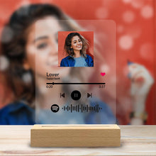 Load image into Gallery viewer, Custom Scannable Spotify Code Music Plaque & A Same Custom Spotify Code Keychain, Surprise Gift For Your Lover