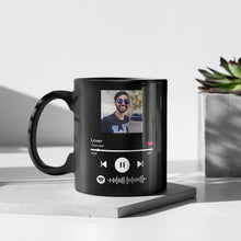 Load image into Gallery viewer, Custom Magic Heat Color Changing Coffee Mugs with Spotify Album Cover