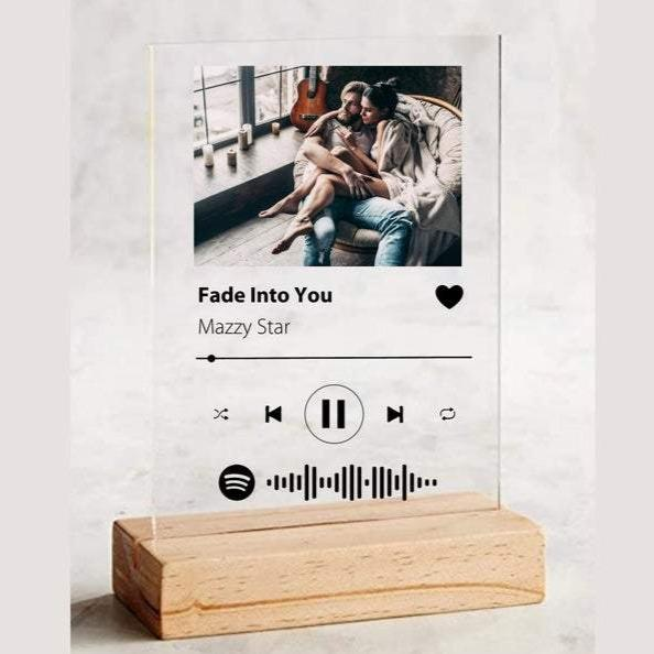 Wooden Holder for Plaque Best add-on For Spotify Code Plaque