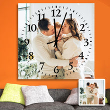 Load image into Gallery viewer, Custom Meaningful Gift Family Photo Square Wall Clock