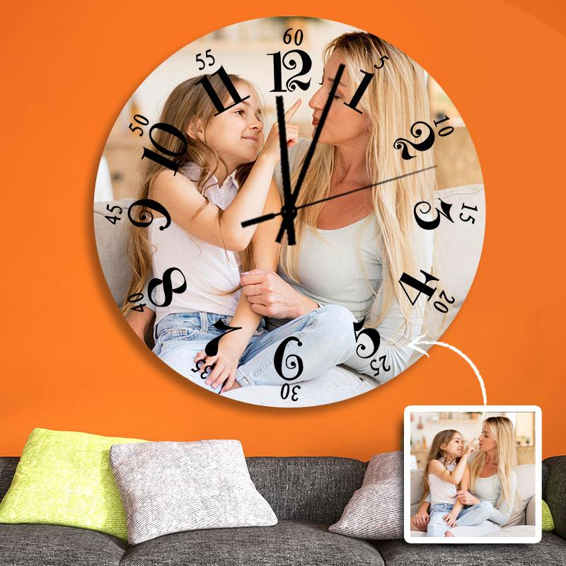Custom Photo Wall Clock Black Pointer  9