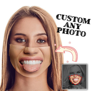 Custom photo Mask, Face Cover, unique mask, surprise gift, funny mask, personalized photo mask