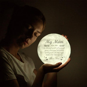 Memorable Gift Engraved Moon Lamp Love You My Mom