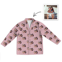Load image into Gallery viewer, Custom Photo Pajamas Photo Long Sleeve Pajamas Sleepwear Gifts Ideas Nightwear Shirts Unisex-Top Only