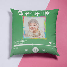 "Load image into Gallery viewer, Custom Spotify Decor Photo Throw Pillow Valentine Gifts Idea 15.75""*15.75"""