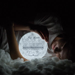 Best Gift Engraved Moon Lamp My Mom I Love You