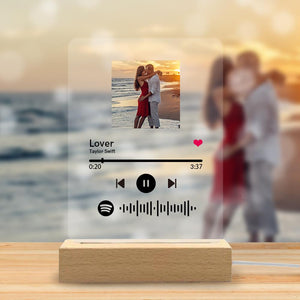 Scannable Custom Spotify Code Acrylic Music Plaque Romantic Gifts For Couple