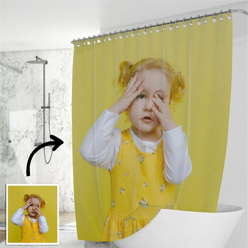 Custom Shower Curtain Unique Gift for Baby - faceonboxer