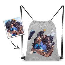 Load image into Gallery viewer, Personalized Sequins Backpack with Photo of Family