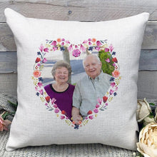 "Load image into Gallery viewer, Custom Parents Anniversary Photo Throw Pillow Mother's Day Father's Day Gifts Pillow Home Decors 15.75""*15.75"""