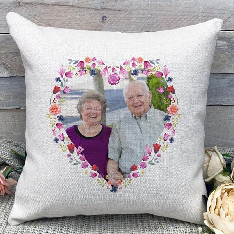 Custom Parents Anniversary Photo Throw Pillow Mother's Day Father's Day Gifts Pillow Home Decors 15.75