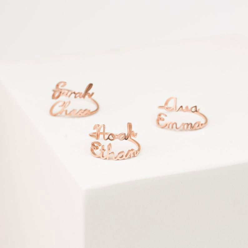 Custom Name Letters Ring Gifts For Her