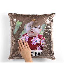 "Load image into Gallery viewer, Custom Photo Magic Sequins Pillow Multicolor Shiny Gift 15.75""*15.75"""