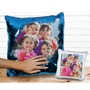"Custom Photo Magic Sequins Pillow Kids Multicolor Shiny Gift 15.75""*15.75"""
