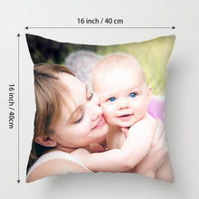 "Load image into Gallery viewer, Custom Baby Kids Photo Throw Pillow Sweet Heart Birthday Gift Home Decors 15.75""*15.75"""