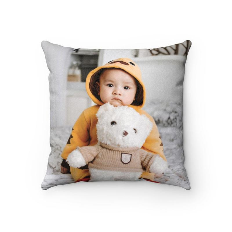 Custom Baby Kids Photo Throw Pillow Sweetheart Home Decors 15.75