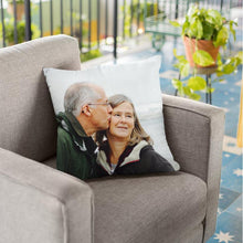 "Load image into Gallery viewer, Custom Parents Photo Throw Pillow Mother's Day Father's Day Gifts Anniversary Gift Pillow Home Decors 15.75""*15.75"""