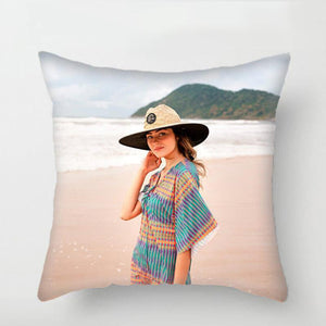 "Custom Photo Throw Pillow Gift For Girlfriend Home Decors 15.75""*15.75"""