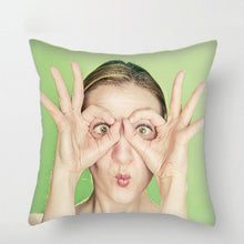 "Load image into Gallery viewer, Custom Photo Throw Pillow Gift For Girlfriend Home Decors 15.75""*15.75"""