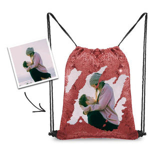 Personalized Sequins Backpack with Photo of Your Lover