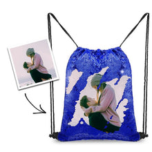 Load image into Gallery viewer, Personalized Sequins Backpack with Photo of Your Lover