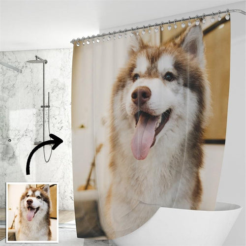Copy of Custom Shower Curtain Unique Gift for Pet - faceonboxer