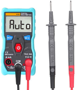 Automatic Digital Multimeter True-RMS Intelligent NCV 4000 Counts AC/DC Voltage Current Ohm Test Tool
