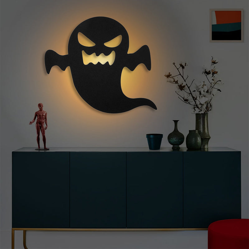 LED Light and Sound Control Silhouette Night Light - Battery or USB Powered