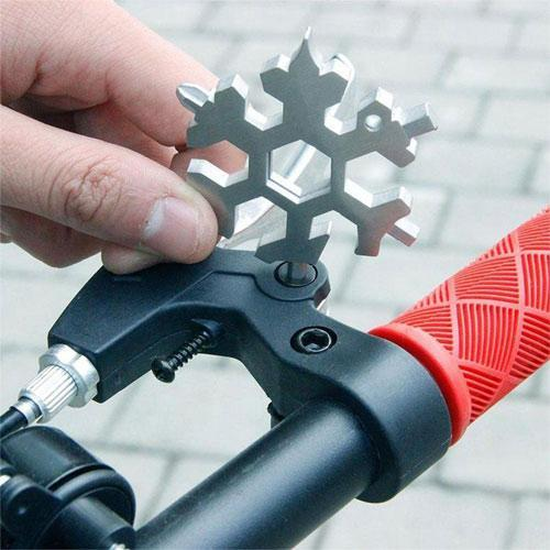 18-in-1 Snowflake Stainless Steel Multi-tool(Black)