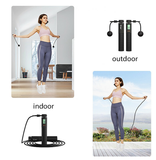 【BUY 2 FREE SHIPPING】Weighted Smart Digital Jump Rope For Easy Full-body Workout