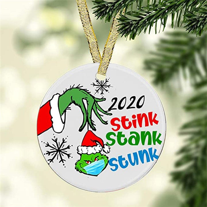 🌟Christmas Hot Sales🌟2020 Stink Stank Stunk Christmas Ornaments