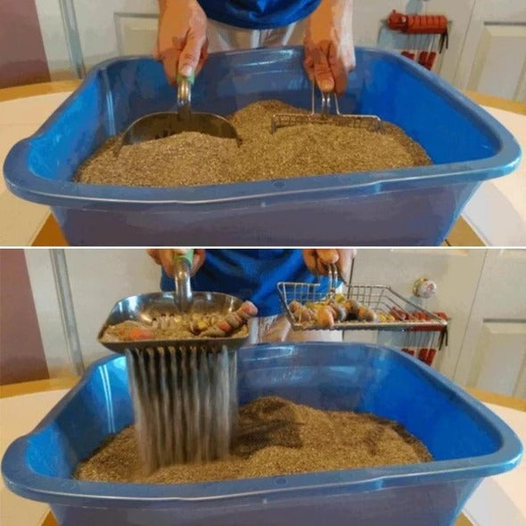 LITTER SCOOPER Stainless Steel Saves Time & Reduces Dust