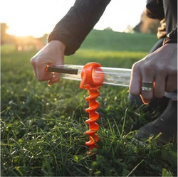 Camping Tent Plastic Screw Shofar Ground Anchors
