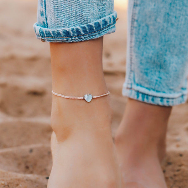Heart of Pearl Anklet