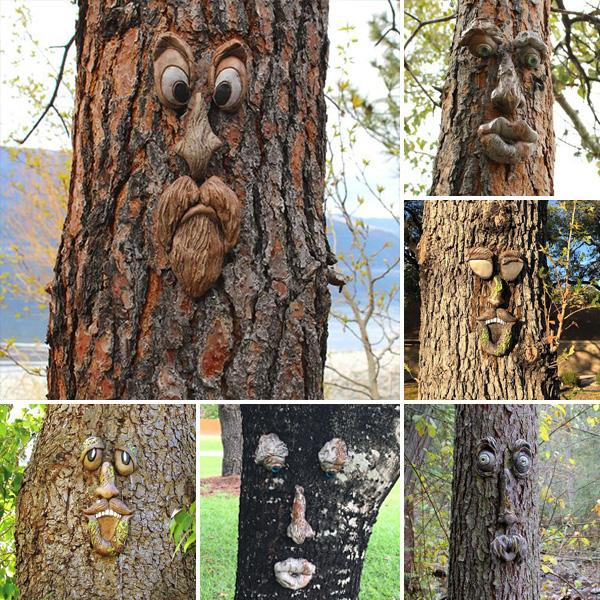 Tree Face Decor Outdoor – Christmas Decoration