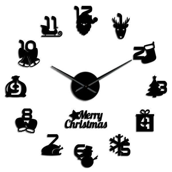 Merry Christmas DIY 3D Acrylic Wall Clock