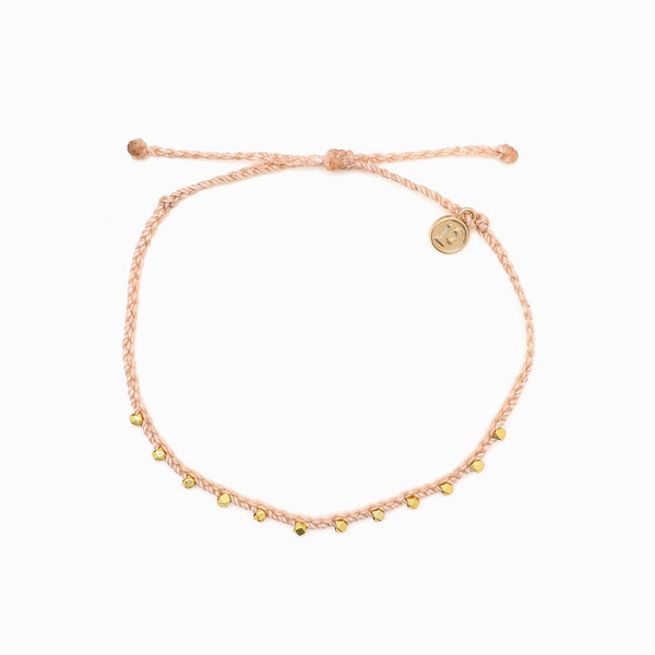 Gold Stitched Beaded Anklet