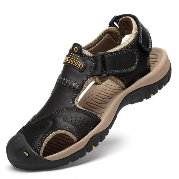 2021 Men Leather Hiking Sandals