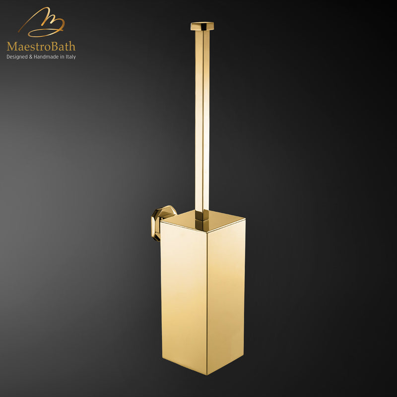 IKON Brush Holder | Polished Gold