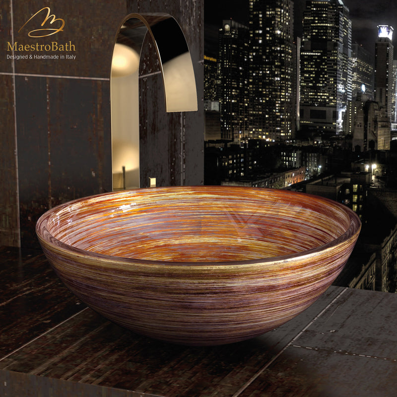 Florance Glass Vessel Sink