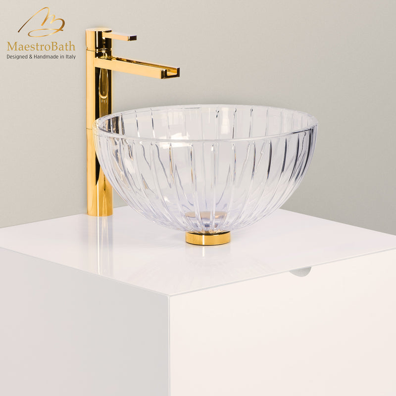 De Medici LED Crystal Vessel Sink