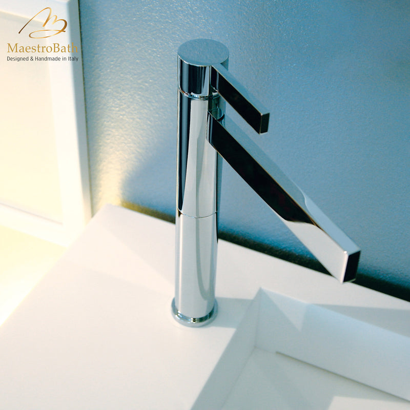 Caso Polished Chrome Designer Bathroom Faucet