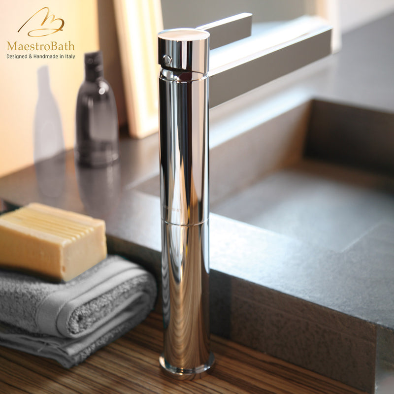 Caso Polished Nickel Designer Bathroom Faucet