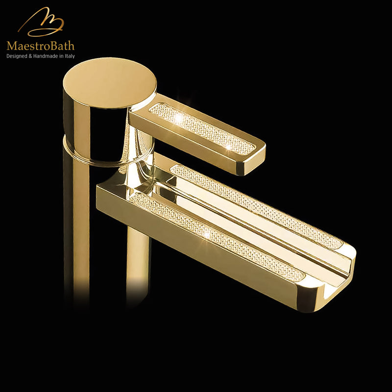 Swarovski Crystal Bathroom Faucet | Polished Gold