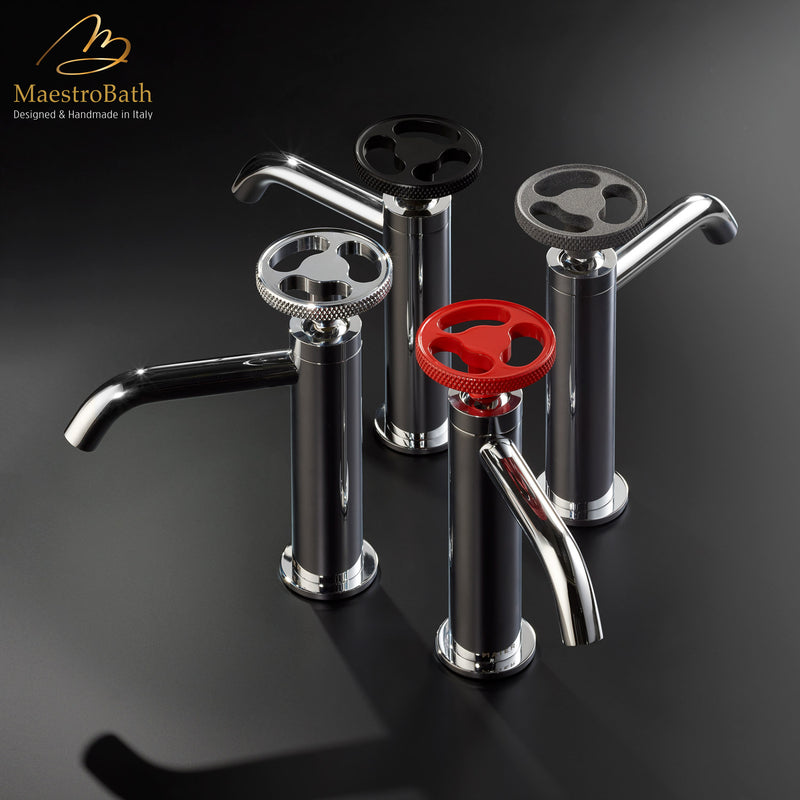 Country Low Bathroom Faucet | Polished Chrome