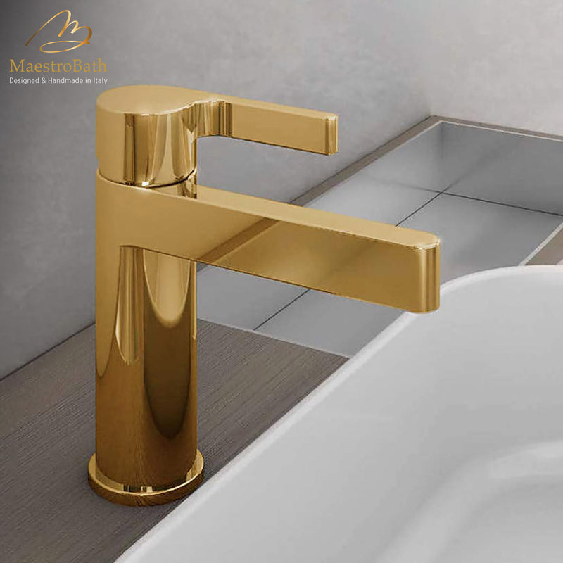 Luxury Italian Bathroom Sink Faucet | Polished Chrome