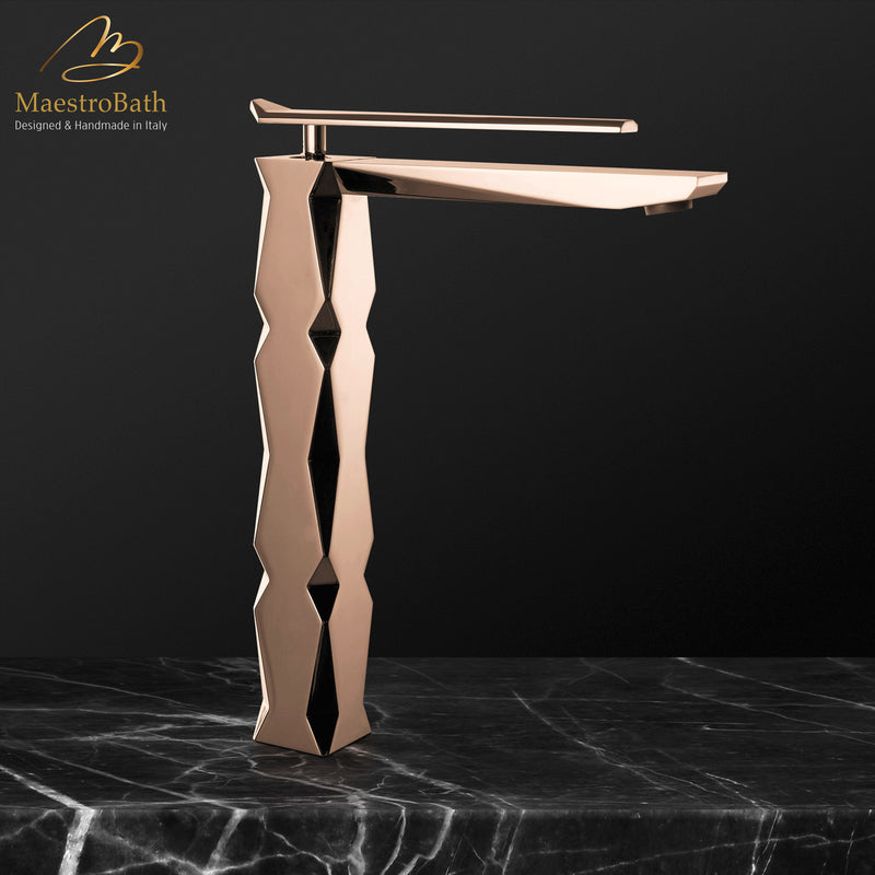 IKON Rose Gold Luxury Vessel Sink Faucet