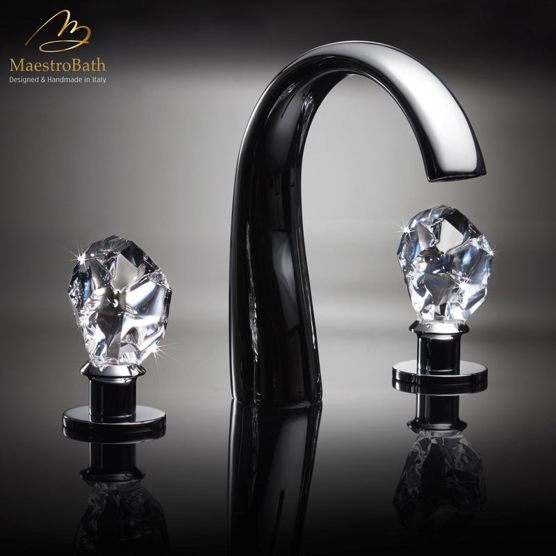 Lux Crystal 3-Hole Bathroom Faucet