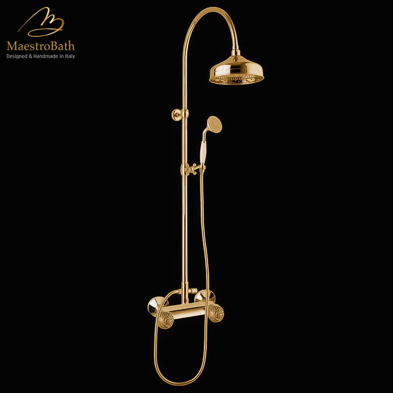 Murano Complete Shower Set | Polished Gold